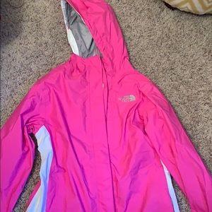 North face Pink rain jacket